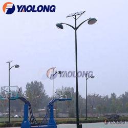 Parkplatz-Licht-Pole-Solaraluminiumvorrichtung des doppelter Arm-angeschaltene hellen Pfosten-hellste LED für Basketballplatz