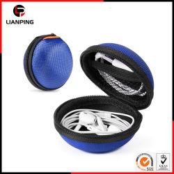 Zíper resistente à prova de auriculares de armazenamento EVA caso com bolsa de malha