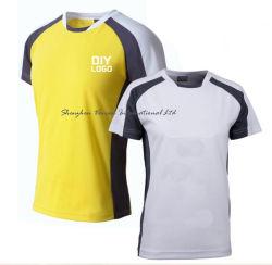 Unisex Dry-Fit dos y tres tonos 100% poliéster Camiseta Camiseta de fútbol