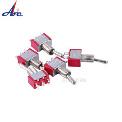 Ready to Ship Red 2 Position SPDT 3 Pin Toggle Switch with Safety Cover
