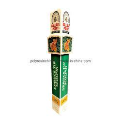изготовленный на заказ<br/> Polyresin ручной работы пиво нажмите ручку с логотипом и снимков
