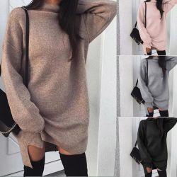Commerce de gros 2019 Fashion Mesdames sexy femmes pullover en tricot longue