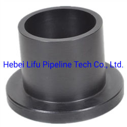 Plástico de alta calidad accesorios de tubería HDPE accesorios de la brida del tubo PE Butt Fusion accesorios de tubería de abastecimiento de agua estándar DIN SDR13.6 y SDR17