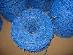 Bleu galvanisé recouvert de PVC pour l'industrie sous forme de barbelés Anjia Factory