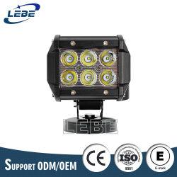LEDのオフロード4X4点の洪水のコンボのライトバー18W