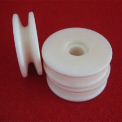 Mecânica de alumina 95% Al2O3 Olhal Têxteis Sintéticos de cerâmica da Roda de Guia