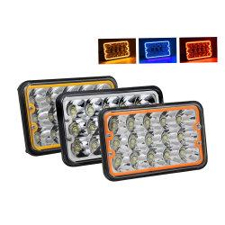 Farol Alto das Luzes do veículo 45W Multi-Colors Angel Eye 5X7 4x6 polegadas farol LED Quadrado