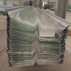 GRP Glassfiber FRP Fibra de vidrio, plástico reforzado con el tramo largo revestido de color de hoja de techos de cartón ondulado