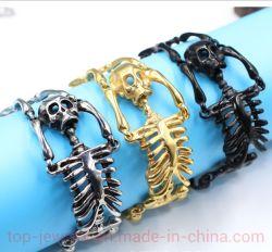 Armband van het Skelet van het Staal van het titanium de Roestvrij staal Gegalvaniseerde