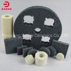Espuma de células abertas porosa filtros de espuma de cerâmica para alumínio/Sic/óxido de zircónio