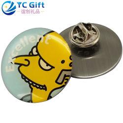 Aangepaste goedkope prijs Metal Craft rond kleurrijk bedrukken Cartoon Logo Epoxy reverspin gepersonaliseerde activiteit Promotie souvenir cadeau knoop Badges Label Bedrijfsnaam