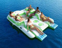 複数競技者用のための浮遊水島膨脹可能な水ソファーベッド