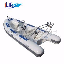 Ilife 2,6M de PVC 7,5 m/l'Hypalon Firberglass caoutchouc gonflable à coque rigide de la pêche bateau sport nervure PRF