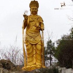 Ausgezeichnete große kupferne Buddha-Skulptur im Bügel