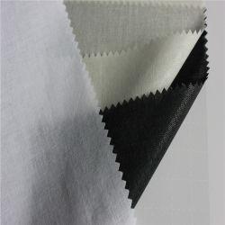 Collar de la camisa tejida de algodón la fusión de entretela tejido camisa causal