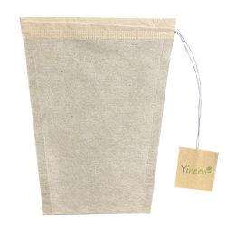 塩素のアバカのペーパーから、カスタマイズされた札と成っていた自由な台形フィルターペーパーティーバッグは生物分解性Composableであることができる