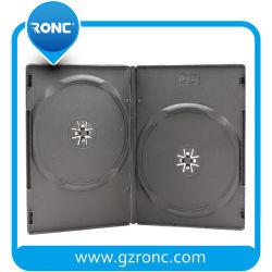 Haute qualité 14mm simple/double côté couvercle de boîte DVD DVD noir