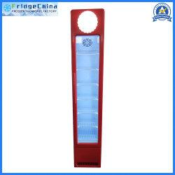 Frigorifero commerciale della barra del frigorifero della cucina dell'hotel della mini della bevanda della visualizzazione vetrina dritta del dispositivo di raffreddamento