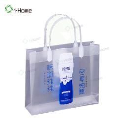 Bolsa de regalo de plástico con asa de cuerda y la parte inferior insertar