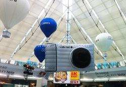 البيع الساخن Hang Giant الإنتفاخ الهليوم إضاءة الصمام الإنتفاخ بالانتفاخ في المنطاد للحفلة