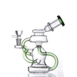 Df2171 Venda quente vidro espesso tubos de água com bela flor