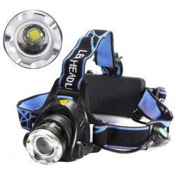 Étanche 10W rechargeable 2000lm Xm-LED L T6 2X 18650 Zoomable projecteur torche lampe de poche de tête des projecteurs