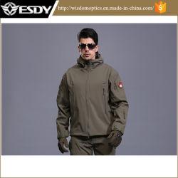 Táctico al aire libre del verde de los Hombres sudadera con capucha chaqueta militar