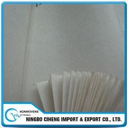 Tissu de base non-tissé dur d'animal familier de polyester d'Airlaid pour le filtre de HEPA