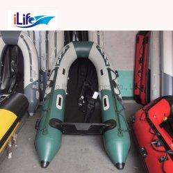 O Ilife 330cm PVC/Hypalon Salvamento insufláveis Pesca barco de borracha com alumínio/Ar/piso de madeira compensada de colagem