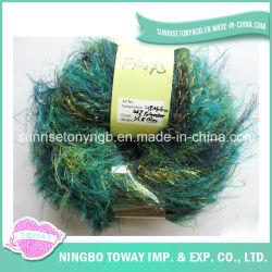 Laine filée Gold Fancy Feather Nylon filés de polyester (AF-073)