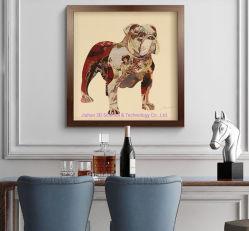 Lenticulaire 3D, décoration de style nordique Peinture d'art avec cadre en bois