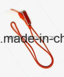 Logo en caoutchouc des cadeaux promotionnels personnalisés Zipper Cordon (LD12)