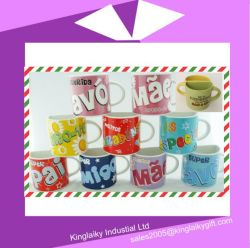 Demi Tasse en céramique avec Logo Image de marque pour la promotion cm017-001