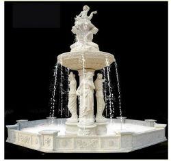 Statue de marbre blanc paysage de jardin pour la sculpture de pierre de granite