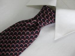 Os homens de cor castanha da moda de Design da onda impressa seda gravata