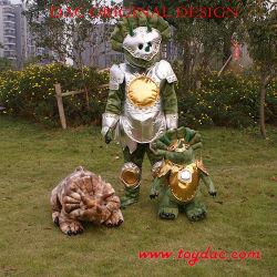 プラシ天のCosplayの衣類の恐竜の衣裳