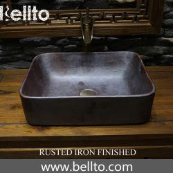 rustes 철 지상 처리 (3070B-R)를 가진 고대 사기그릇 배 수채