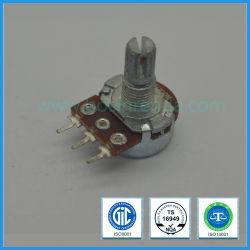 0.05W 16mm de Enige Roterende Potentiometer van de Koolstof van de Troep