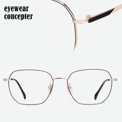 Ractangle 기본적인 Eyewear 프레임은, 광학적인 가관, 스테인리스 안경알을 금속을 붙인다