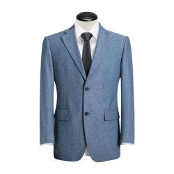Revers de l'encoche de la saison de mariage fait sur mesure costume bleu Pant enduire
