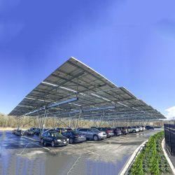 هيكل صلب مقاوم للمياه HDG نظام تركيب اللوحة الشمسية
