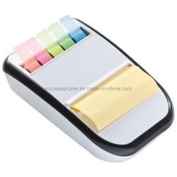 異なったカラー粘着性があるノートが付いているプラスチック粘着性があるノートディスペンサー