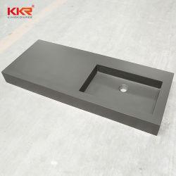 Surface solide Salle de Bain lavabo pierre artificielle de la conception de la pente du dissipateur de Wall-Hung 190804