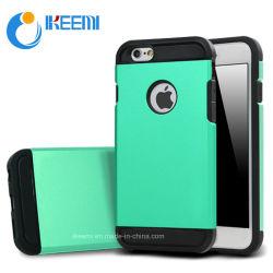 Caliente la venta de productos 2 en 1 TPU + PC Hybird Slim Case de armadura de cubierta del teléfono móvil para el iPhone 6
