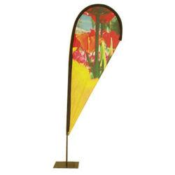 Custom Logo Advertising Feather Flags Promotion Polyester Teardrop Beach Flag