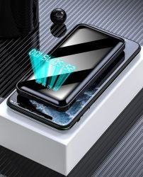 Быстрая зарядка 30000 mAh банки питания зарядного устройства встроенный Micro-USB/C/типа Молния/ USB-кабель 4 в 1 Портативный мобильный банк питания
