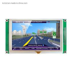 5 pouces 800x480 TFT LCD Ra8875 Interface parallèle de série du contrôleur du module d'affichage couleur avec écran tactile résistif