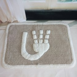 綿で水洗いできるバスラグ。ホテルのホームに最適です 使用方法