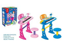 Los niños instrumentos musicales de juguete juego Teclado Piano eléctrico con micrófono