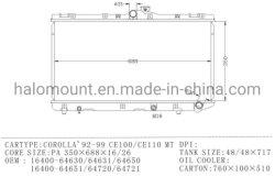 Het Vervangstuk van het KoelSysteem van de auto voor MT Corolla'92-99 Ce100/Ce110